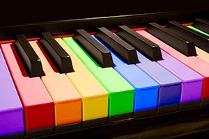 tastiera colorata