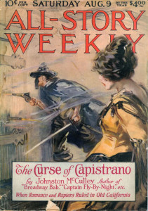 """La Maledizione di Capistrano"""" è il racconto del 1919 in cui nasce il personaggio di Zorro!"""